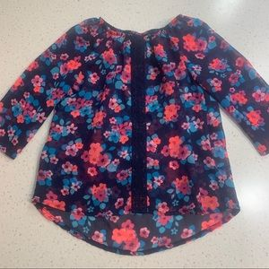 5/$20 Faded Glory bright floral blouse